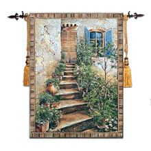 "Belgium jacquard tapestry European paintings the sitting room mural cloth art ""The Tuscan manor"" 90X118CM GT-TSKN109"