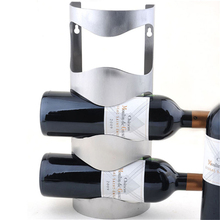 1pc Fashion Stainless Steel Wine Holder Hanging Bar Shelf Creative Wine Frame Wall Thickening Rack