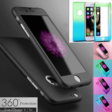 For iPhone 5 5Ss SE 6 6S with Free Screen Protector New Ultra Thin Full coverage of 360 degrees Front-back Protection cover