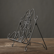 American rustic retro Storage rack hand made iron art Display shelves  vintage magazines box home decor wedding gift
