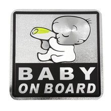 X Autohaux Self Adhesive Safety Sign Baby On Road Warning Sticker Decal For Car Auto