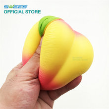 Peach Squishy Slow Rising Jumbo Kawaii Juicy 10CM Cute Phone Straps Pendant Sweet Cream Scented Bread Cake Kids Toy Xmas Gift
