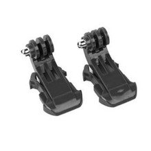 2pcs Go pro Buckle Vertical J-Hook Surface Mount Adapter for GoPro Hero 4 3 2 SJ4000 SJ5000 Xiao Mi Yi Camera Accessories GP20(China)