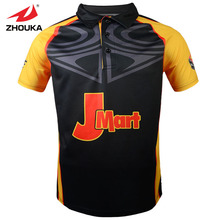 Zhouka Latest Design Polo collar  Football uniform breathable free shipping