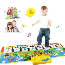 Hot Selling Fashion Children Music Singing Gym New Touch Play Keyboard Musical Music Singing Gym Carpet Mat Best Kids Baby Gift