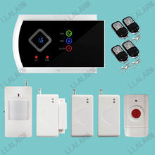 Home Security Wireless Panic Button GSM SMS Alarm System Supported Andorid APP Control Calling Modify Zone