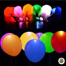 10PCS LED Balloons 12 Inches Latex Multicolor Lights Helium Balloons Christmas Hollween Decor Wedding Birthday Party Supplies(China)