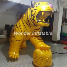 Free shipping popular advertising giant inflatable tiger inflatable animal balloon for outdoor decoration