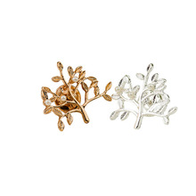 Unisex Fashion Brooch Jewellery For Women And Man Zinc Alloy Small Trees Pin Brooch