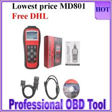 Brand quality Autel MD801 pro maxidiag 4in1 Multi-Functional scanner tool MD801 (JP701+EU702+US703+FR704) hot selling free dhl