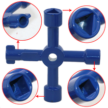 Blue 4 In 1 Cross Switch Key Wrench With Accessories Universal Triangle Train Electrical Cupboard Box Elevator Cabinet