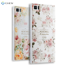 Super 3D Relief Printing Clear Soft TPU Case For Xiaomi Mi3 M3 Phone Back Cover Ultra-thin Shell Free Ring Holder Film