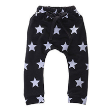 2016 Autumn toddlers baby boy pants Stars pattern kids harem pants 100% cotton Casual Bottoms Bottoms Trousers for 2-7yr