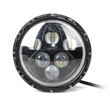 Hot Sale ! 60w 12v/24v  7inch  Hi / Lo with angel eyes DRL Round Car Headlight Driving Light headlamp used For Truck Jee-p JK