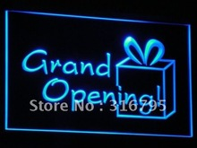 i032 Grand OPEN Shop Beer Bar Club LED Light Sign On/Off Switch 7 Colors