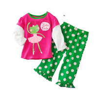 boutique clothing kids sets for girls,100% modal cotton children's sets,girl dot pure cotton sets