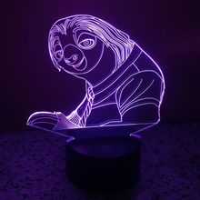 Crazy Animal City 3D LED Night Light USB Remote Controlled Spiral Night Light Lamp Multi-color Bulbing Light Bedroom Table Lamp