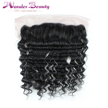 Full Lace Frontal Closure 13x4 Deep Curly Wave Virgin Peruvian Human Hair 1pc Ear To Ear Top Lace Frontal Pieces Wholesale Price