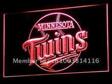 b121 Minnesota Twins Pub Gifts NR LED Neon Sign with On/Off Switch 7 Colors to choose