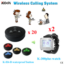 Hot sell CE certificate 433mhz restaurant service calling waiter system wireless pager wrist pager(China)