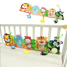 Baby Bed Bumper Carton Baby Bedding Set 0-24 Month Soft Fun Colorful Crib Bumper Toys For Children Kids Cloth Book Ruffle Indoor(China)
