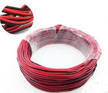 100M/LOT 2 Pin 2 Channels 5050 3528 22AWG LED Strip Extension Wire Extend Led Strip Cable Wire Cord Connecto(China)
