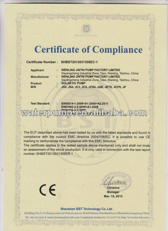 CE solar pump all