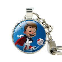 2016 France soccer cup mascot keychain Double Sided Charm Key Ring Football Souvenir Gift Super Victor Keychain