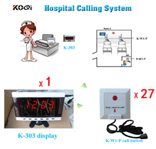 Medical Equipment Hospital Clinic Wireless Nurse Call Service Call System English Voice Emergency Calling Button free shipping