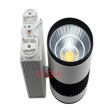 30W cob track light with high quality light spot for shop department store commercial lighting warm/cool white optional(China)