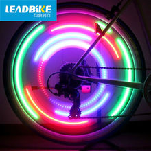 LEADBIKE LED Lamp Bicycle Light Bike Accessories Cycling Spokes Wheel Color Eclairage Velo Luz De Bicicleta Bisiklet Aksesuar