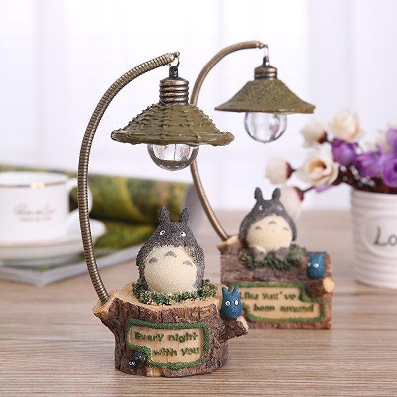 Anime My Neighbor Totoro LED Light Action Figure Toy 18cm Resin Ghibli Miyazaki Totoro Table Lamp Figures Kids Toys / Brinquedos<br><br>Aliexpress