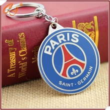 High quality paris saint germain PVC keychains psg Soccer team souvenir factory direct low price key chain