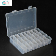 Plastic 24 Slots Adjustable Beads Pills Jewelry Storage Box Case Craft Organizer Economical Practical(China)