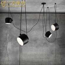 Black Modern LED Pendant Lamp Pensonal Creative Small Drum Shape Light Clothing Store Light Living Room Light Free Shipping