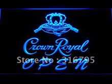 049 Crown Royal Beer OPEN Sign LED Neon Light Sign Wholesale Dropshipping On/ Off Switch 7 colors DHL