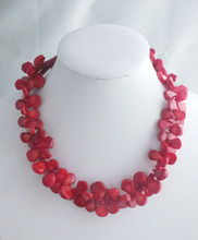 New fashion Nature red coral necklace jewelry