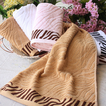 Ultra Absorbent Tiger Pattern Bamboo Fiber Bath Towel Home Washcloth Hand Towel(China)