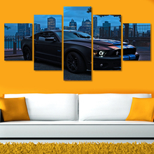 2016 unframed Printed For Ford Mustang Group Painting Childrens Room Decor Print Picture Canvas Grant Car Wall Decals Background