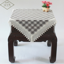 White Wedding Decorative Floral Pure Lace Fabric Embroidered Tablecloth Table Cover(China)