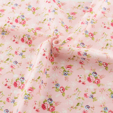 New pink printed floral patterns 50cmx160cm/piece cotton fabric tilda quilting home textile for bedding factory direct fabric(China)