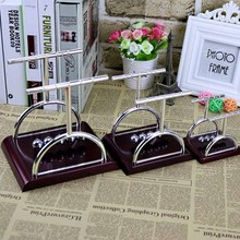 High Quality Design Newtons Cradle Steel Balance Balls Physics Science Pendulum Desk  Home Office Decoration Accessory Gift