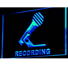 i799 Recording Microphone On Air NEW LED Neon Light Sign On/Off Switch 7 Colors