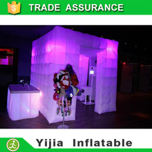 2 doors inflatable led cube tent digital photo booth without roof(China)