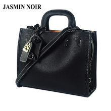 JASMIN NOIR Winter New Women Leather Handbag Large Lady Briefcase Female Laptop Crossbody Bag Brand Designer Tote Bag