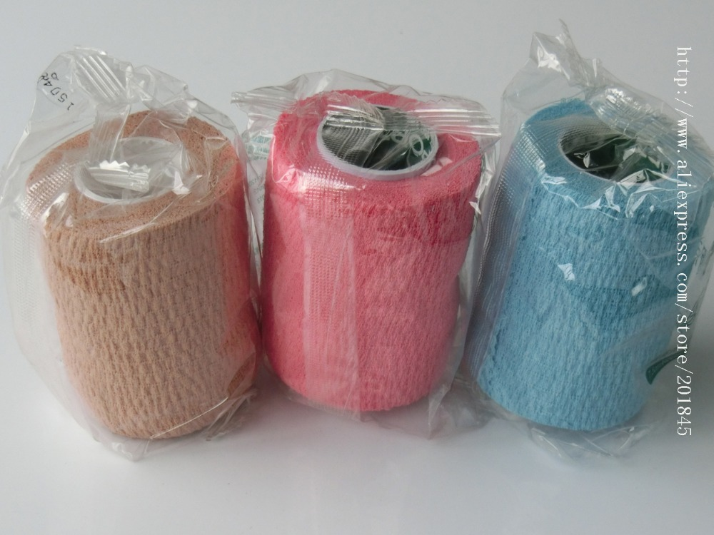 30pcs wholesale price  Medical sports bandage pure cotton self adhasive gauze  mixed color<br><br>Aliexpress