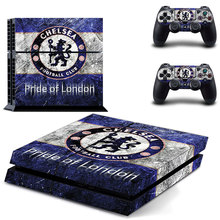 Pride of London Chelsea Football Team PS4 Skin Sticker Decal For Sony PS4 PlayStation 4 Console and 2 Controllers Stickers