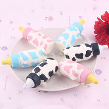 Squishy Slow Rising Squeeze Cellphone Straps Kawaii Feeding Milk Bottle Pendant Bread Kids Toy Gift Cute Stretchy Phone Straps