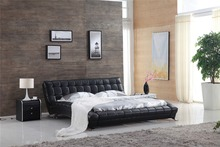 Italian modern leather bed 0414-813(China)