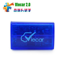 2016 Super MINI ELM327 Bluetooth OBD2 Scanner ELM327 Viecar 2.0 Auto Diagnostic Tool For Multi-Brand Cars(China)